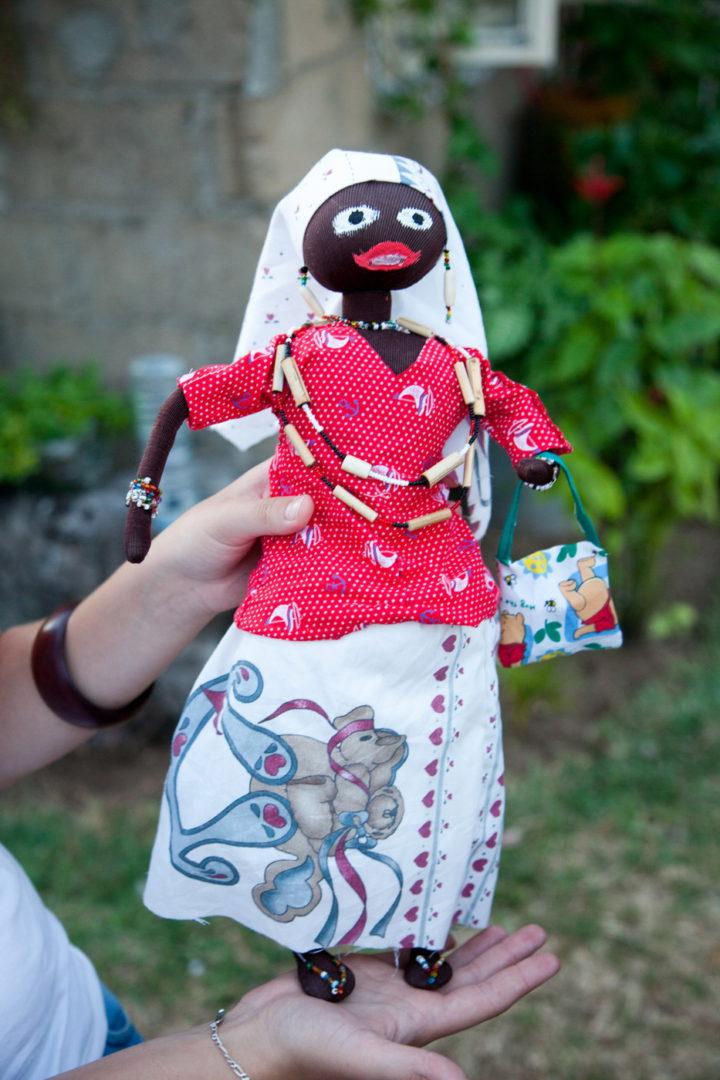 Eine Puppe entsteht