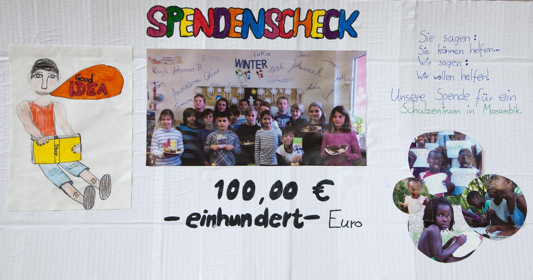 Scheck der Schüler der Grundschule Grimma