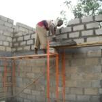 Wände vor Fertigstellung